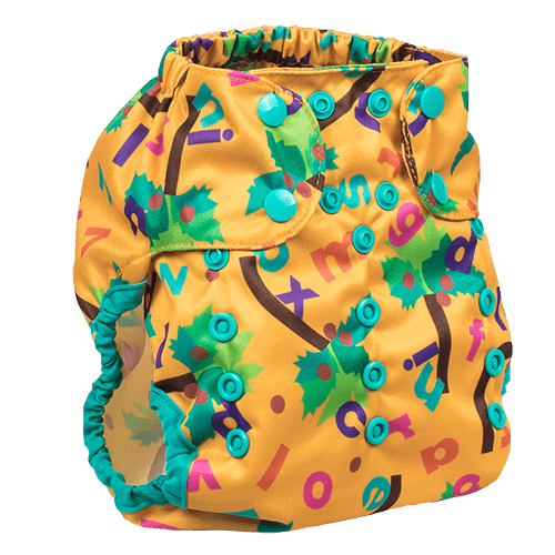 Smart Bottoms Too Smart 2.0 Diaper Cover - Chicka Chicka Boom Boom ABC's