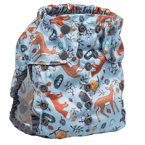 Smart Bottoms Too Smart 2.0 Diaper Cover - Forest Friends