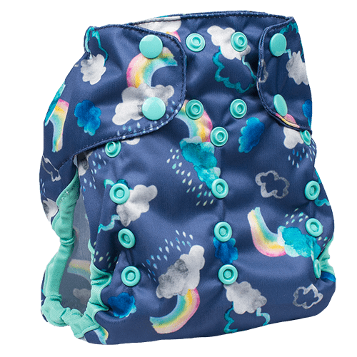 Smart Bottoms Too Smart 2.0 Diaper Cover - Over the Rainbow