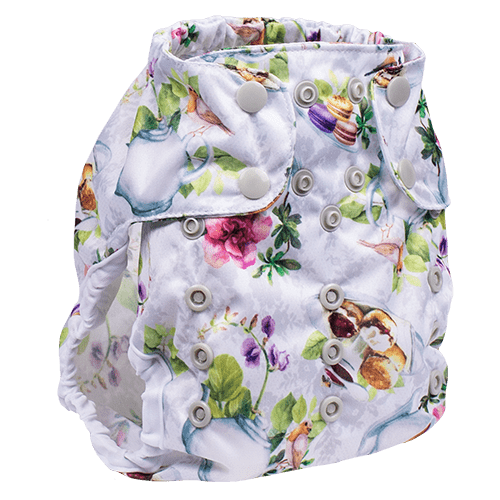 Smart Bottoms Too Smart 2.0 Diaper Cover - Tea Party
