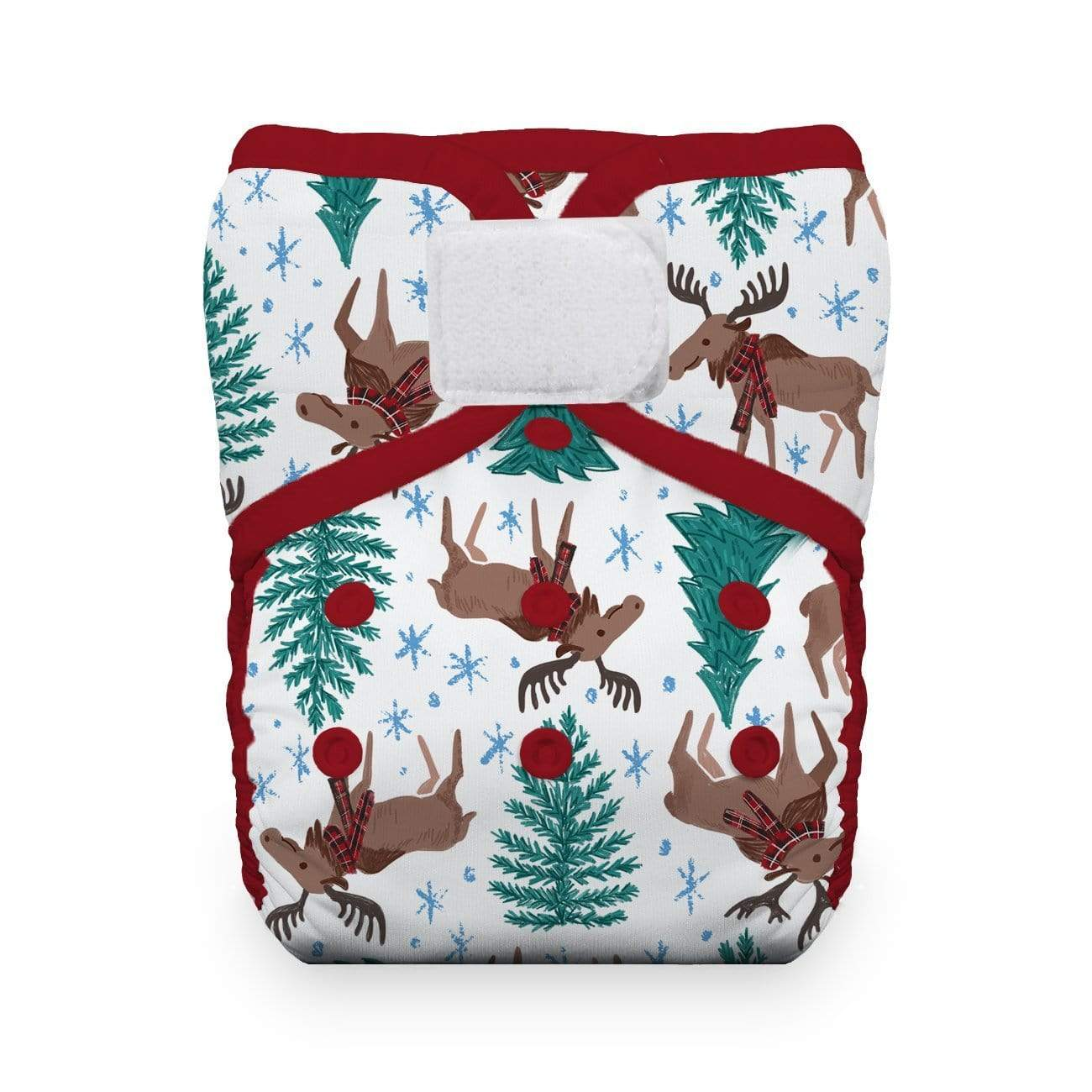 Thirsties Hook and Loop Duo Wrap - Merry Moose-mas