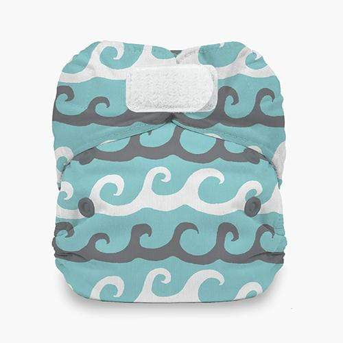 Thirsties Natural Newborn Hook and Loop All In One Diaper - Surfs Up