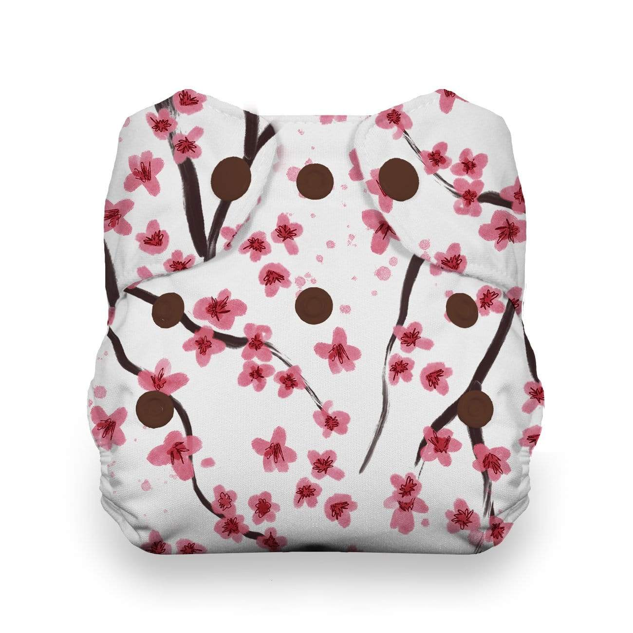 Thirsties Natural Newborn Snap All In One Diaper - Sakura