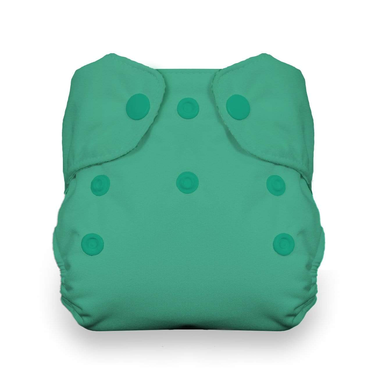 Thirsties Natural Newborn Snap All In One Diaper - Seafoam
