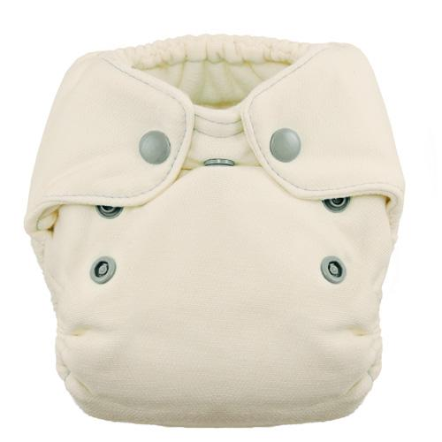 Thirsties Natural Newborn Snap Fitted Diaper - Fin Newborn