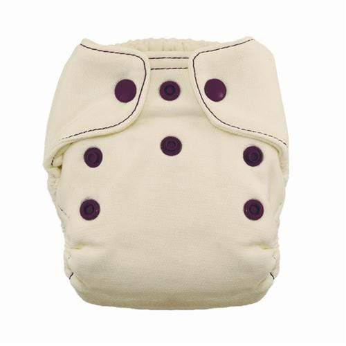 Thirsties Natural Newborn Snap Fitted Diaper - Plum