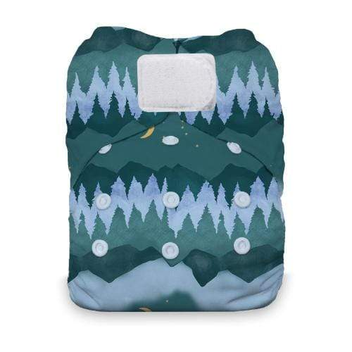 Thirsties Natural One Size Hook and Loop All In One Diaper - Mountain Twilight