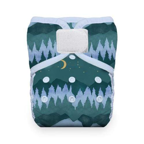 Thirsties Natural One Size Hook and Loop Pocket Diaper - Mountain Twilight