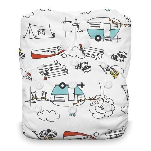 Thirsties Natural One Size Snap All In One Diaper - Happy Camper
