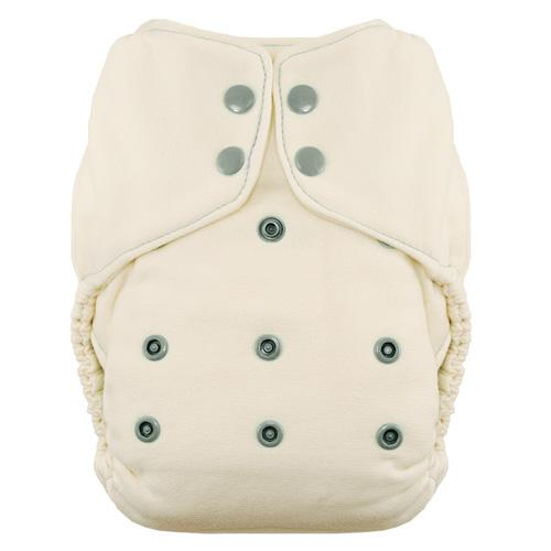 Thirsties Natural One Size Snap Fitted Diaper - Fin