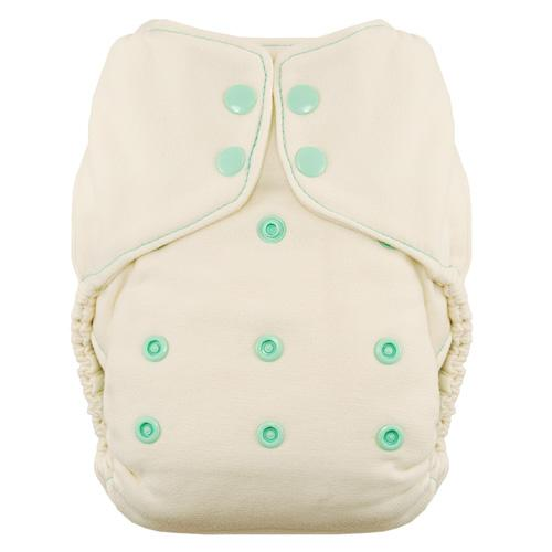 Thirsties Natural One Size Snap Fitted Diaper - Moss