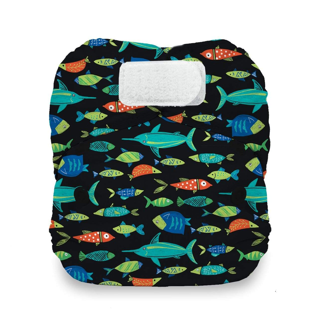 Thirsties Newborn Hook and Loop All In One Diaper - Fish Tales Newborn