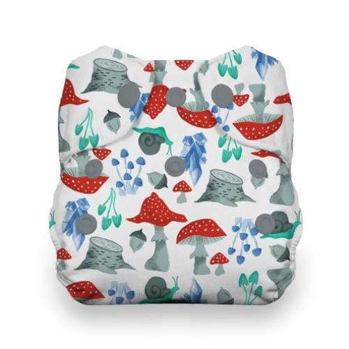 Thirsties Newborn Snap All In One Diaper - Forest Frolic Newborn