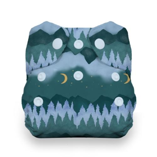 Thirsties Newborn Snap All In One Diaper - Mountain Twilight Newborn