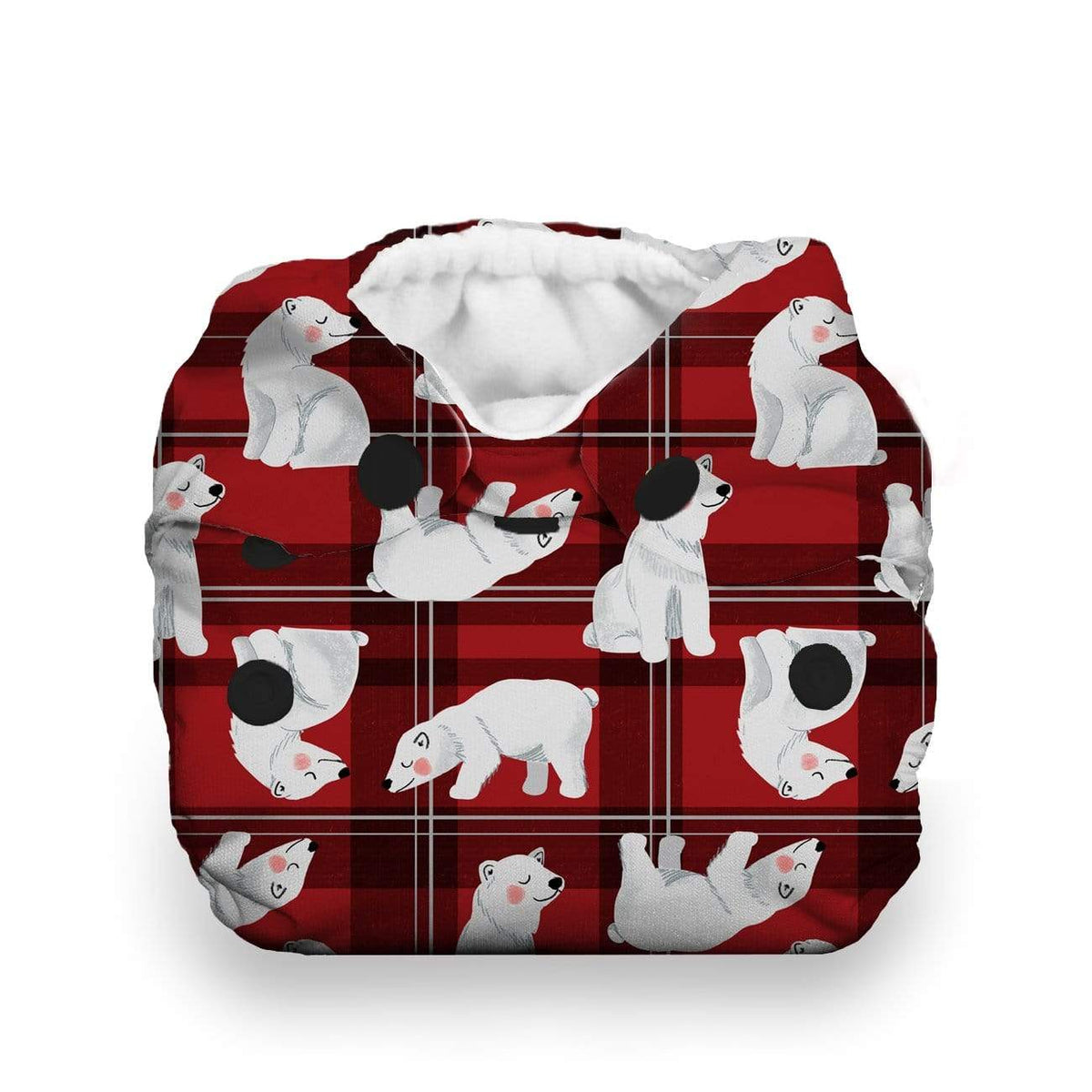 Thirsties Newborn Snap All In One Diaper - Polar Plaid