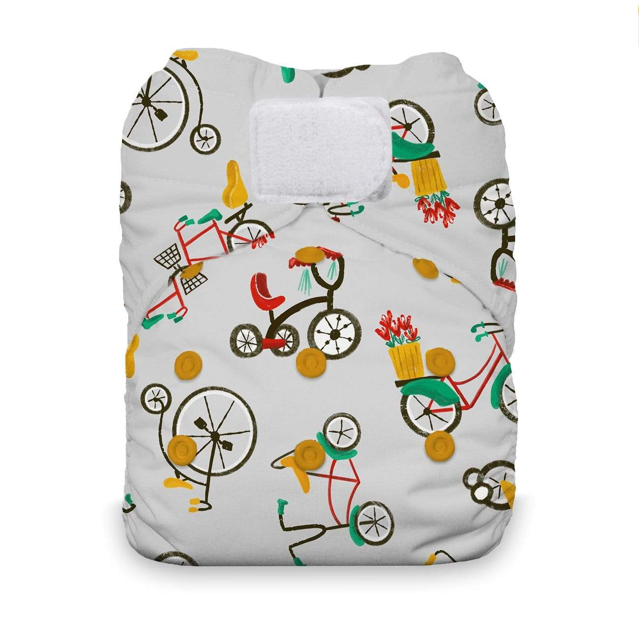 Thirsties One Size Hook and Loop All In One Diaper - Cruising