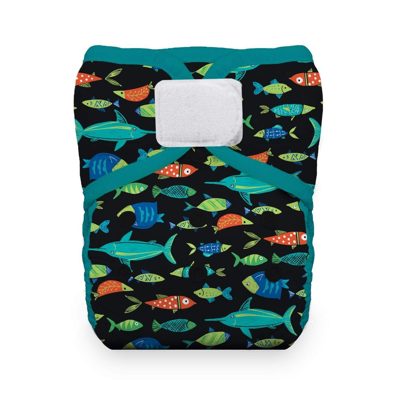 Thirsties One Size Hook and Loop Pocket Diaper - Fish Tales