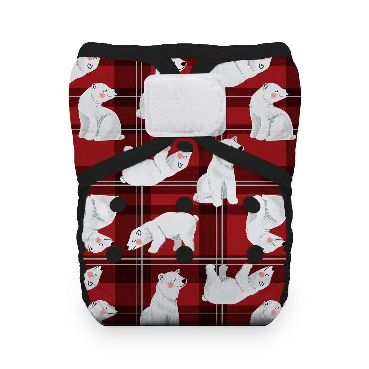 Thirsties One Size Hook and Loop Pocket Diaper - Polar Plaid