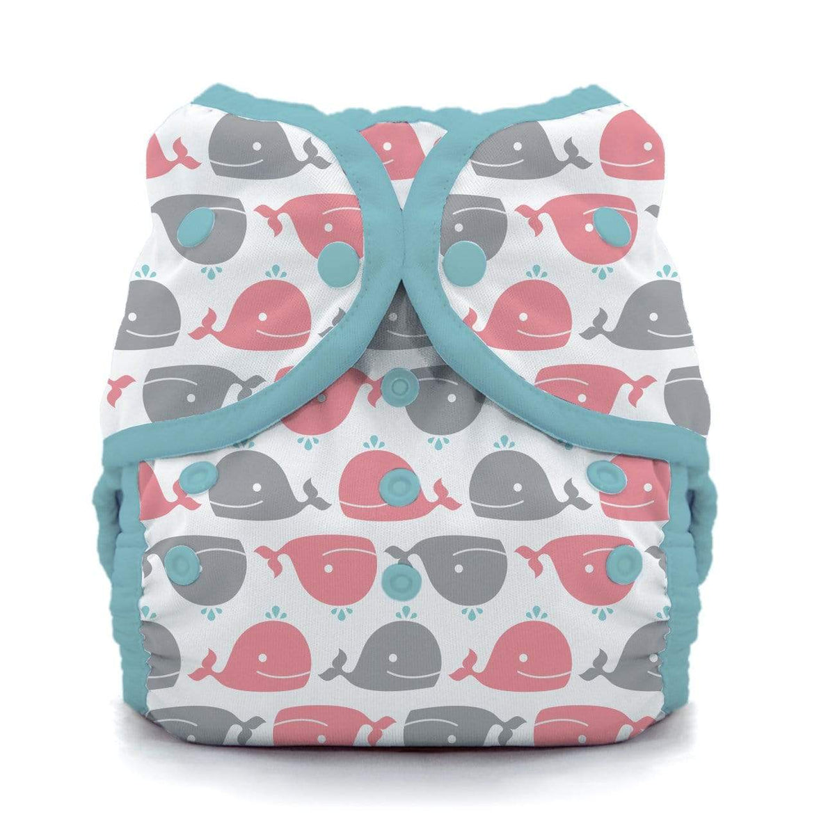 Thirsties Snap Duo Wrap - Whales
