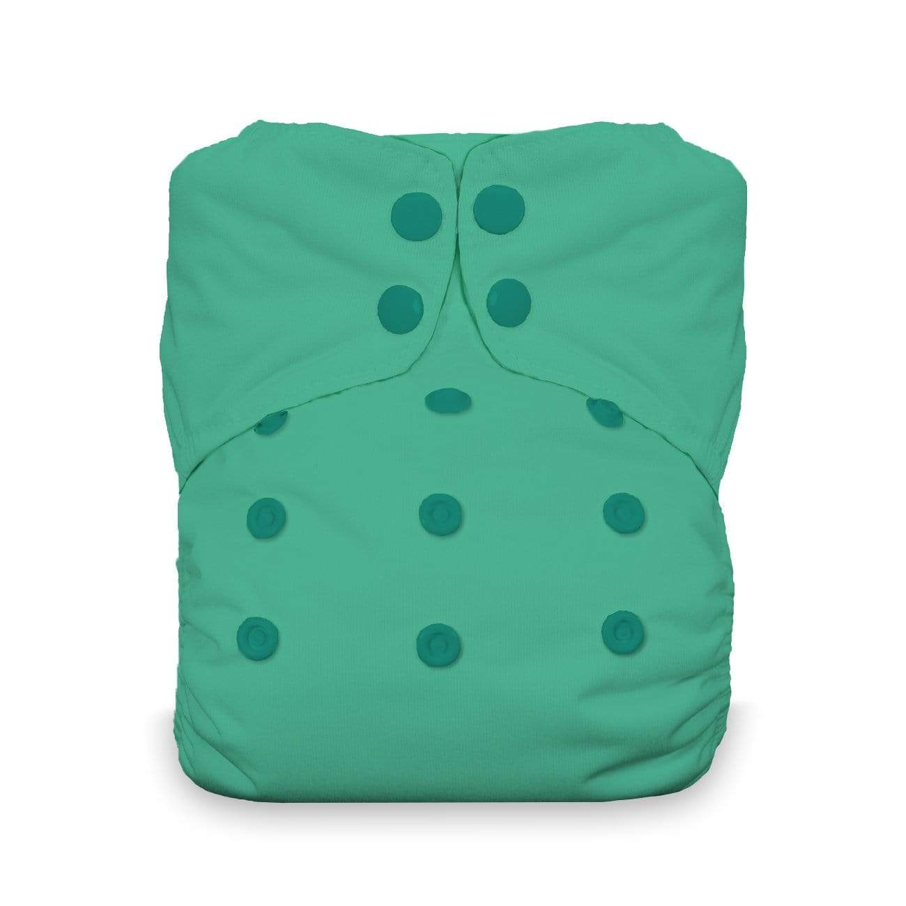 Thirsties Stay Dry Natural Snap One Size All in One Diaper - Seafoam