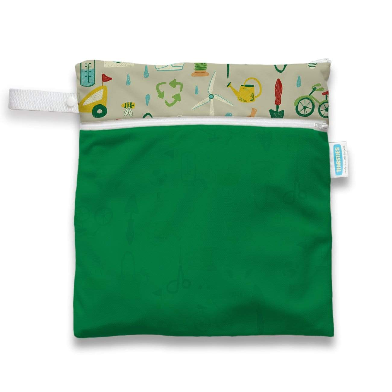 Thirsties Wet/Dry Bag - Green Scene