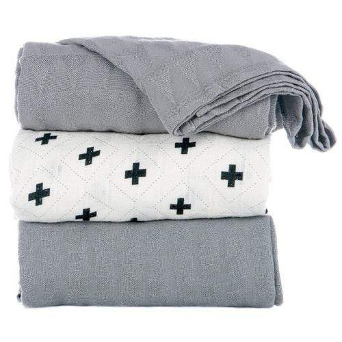 Tula Blankets Set of 3 - Splatter Jet