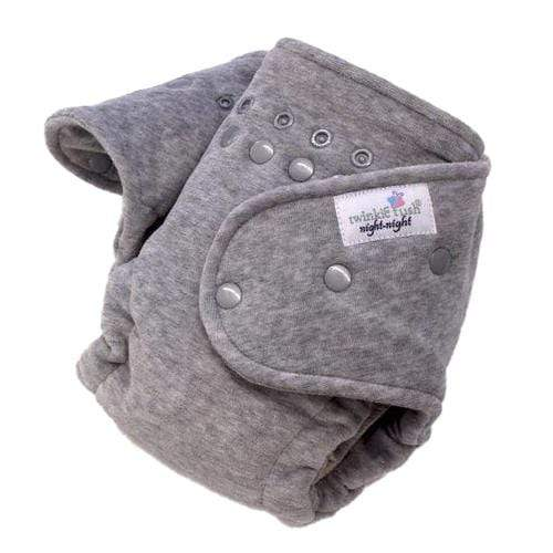 Twinkie Tush Night Night Fitted Diaper - Heather Grey