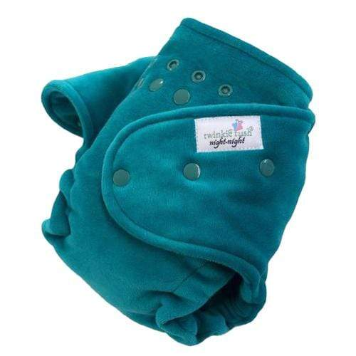 Twinkie Tush Night Night Fitted Diaper - Teal