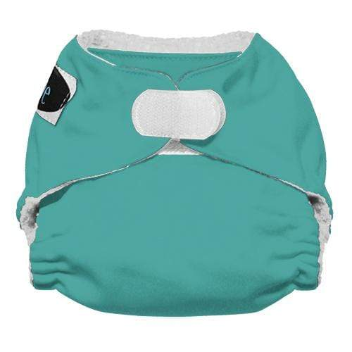 WASH - Imagine Newborn Hook and Loop Stay Dry All in One Diaper - Aquamarine Newborn