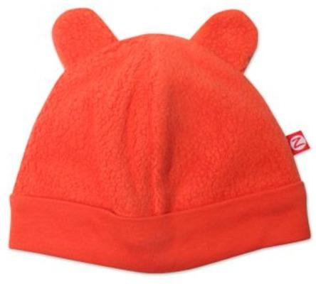 Zutano Cozie Fleece Bear Hats - Mandarin M