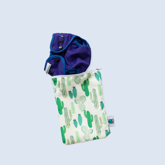 Small Waterproof Wet Bag with Cloth Diaper
