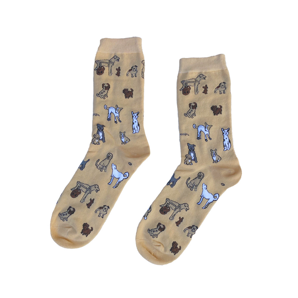 One Eyed Pug & Friends Socks Neutral