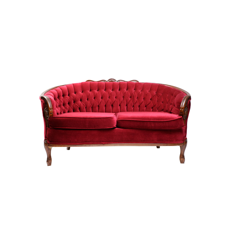 Red Velvet Loveseat