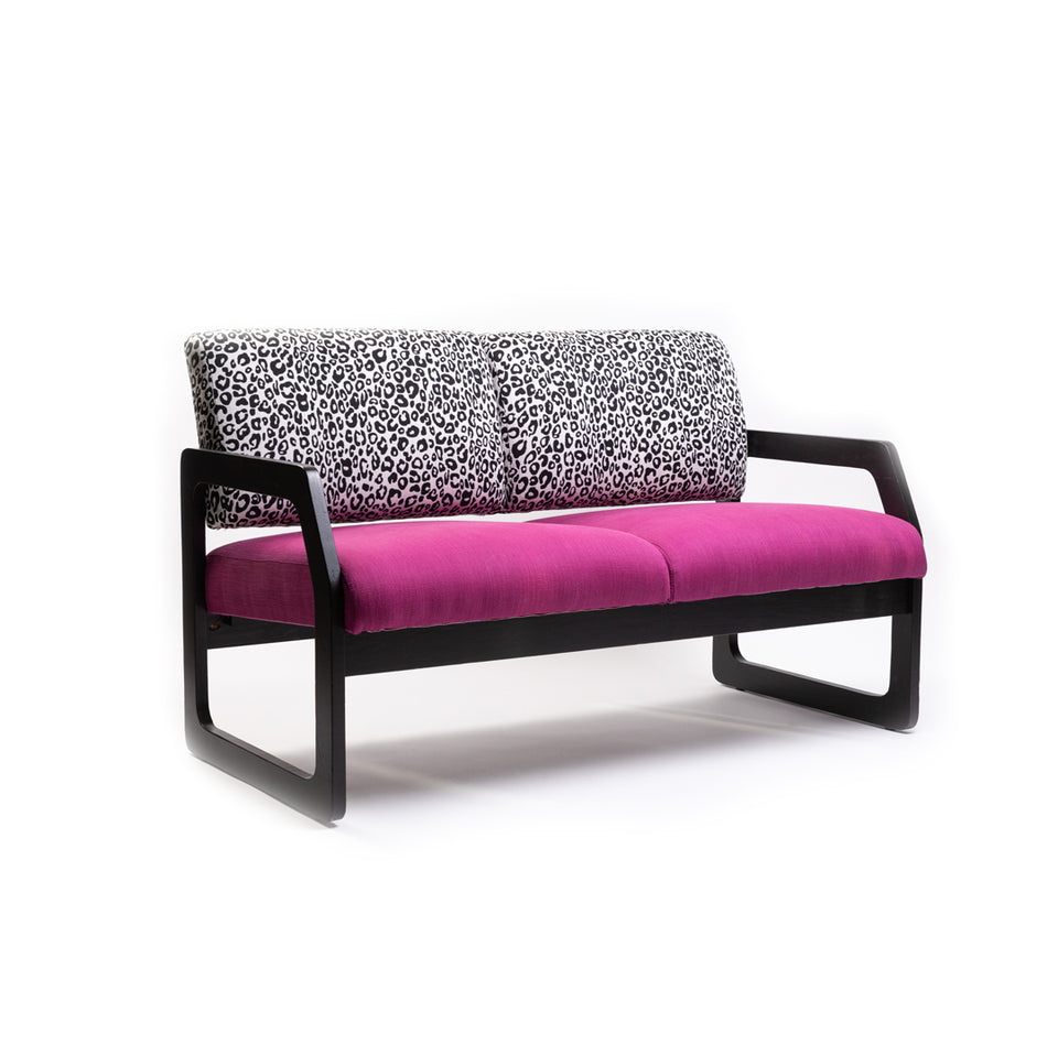 Pink and Leopard Loveseat