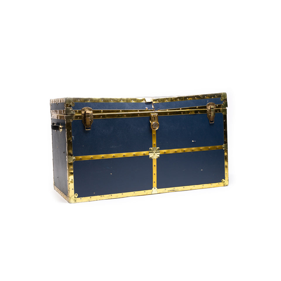Navy Blue Chest With Gold Trim