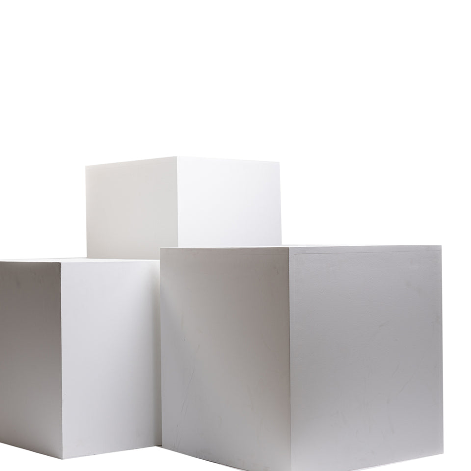 White Blocks (Set of 3)