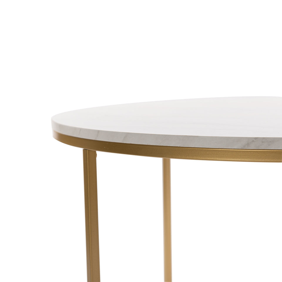 Marble Gold Trim Coffee Table
