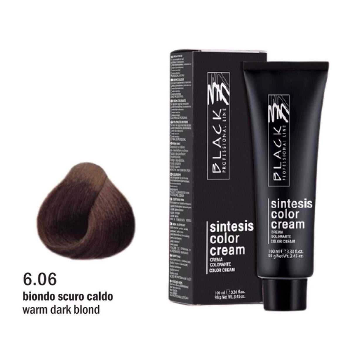 Black Sintesis Color Cream Warm Dark Blond 6.06