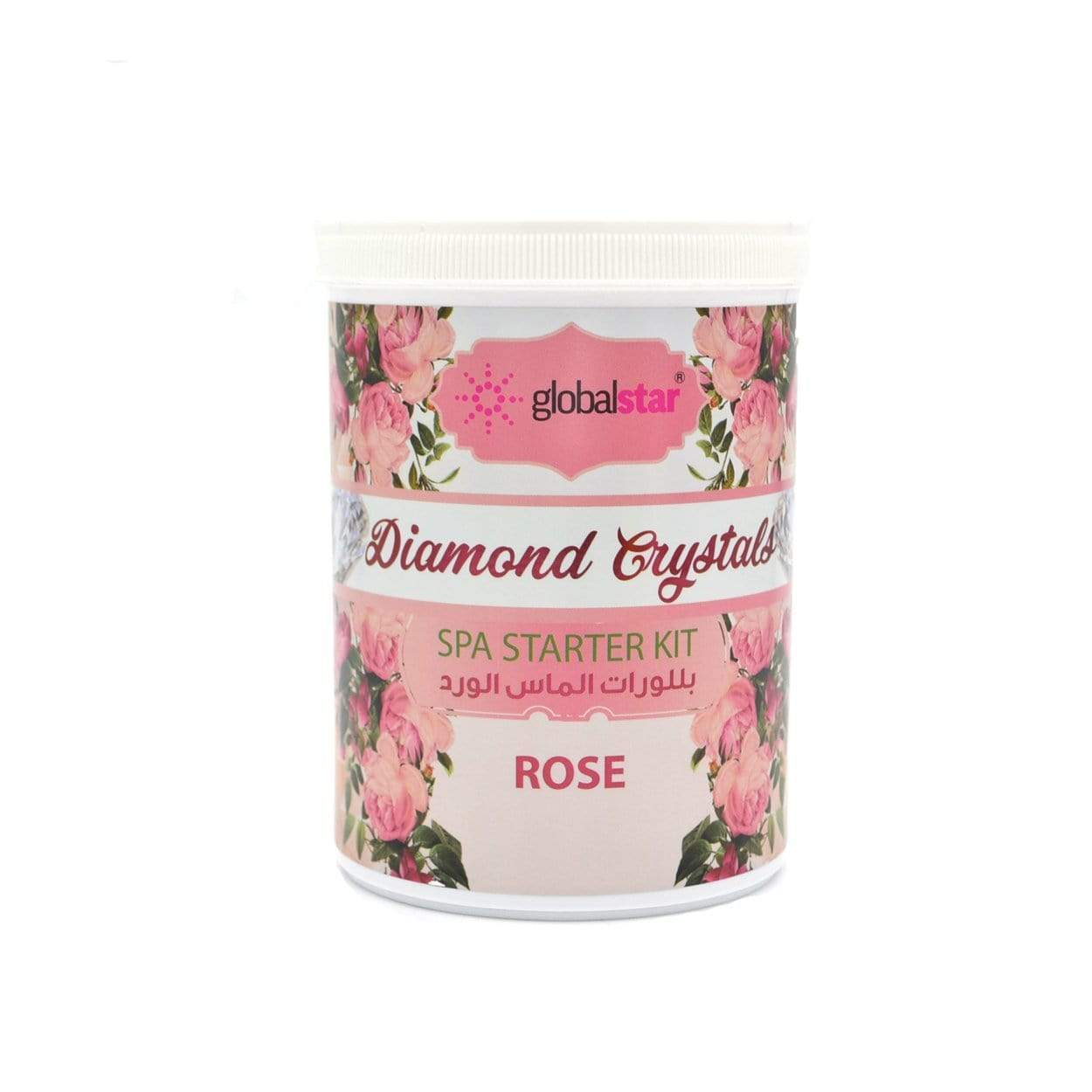 Globalstar Diamond Crystal Spa Starter Kit Rose 1kg