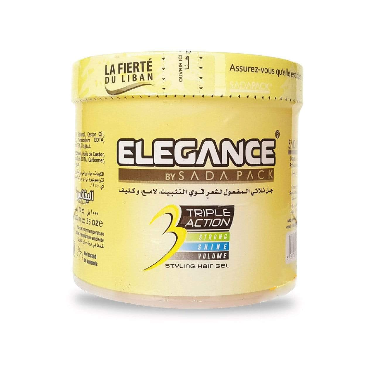 Elegance Triple Action Hair Gel Yellow 1000ml