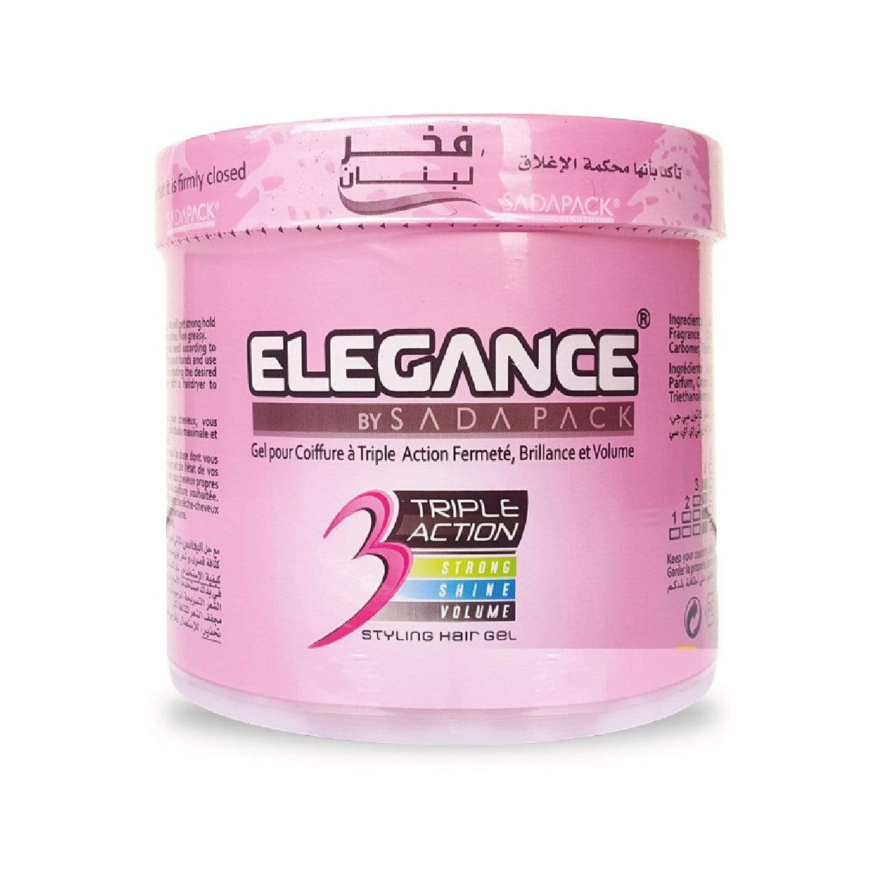 Elegance Triple Action hair Gel Light Pink 1000ml
