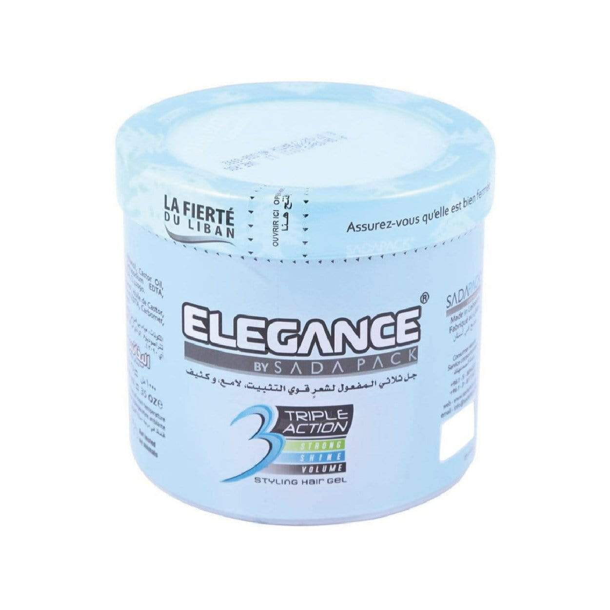 Elegance Triple Action Hair Gel Blue