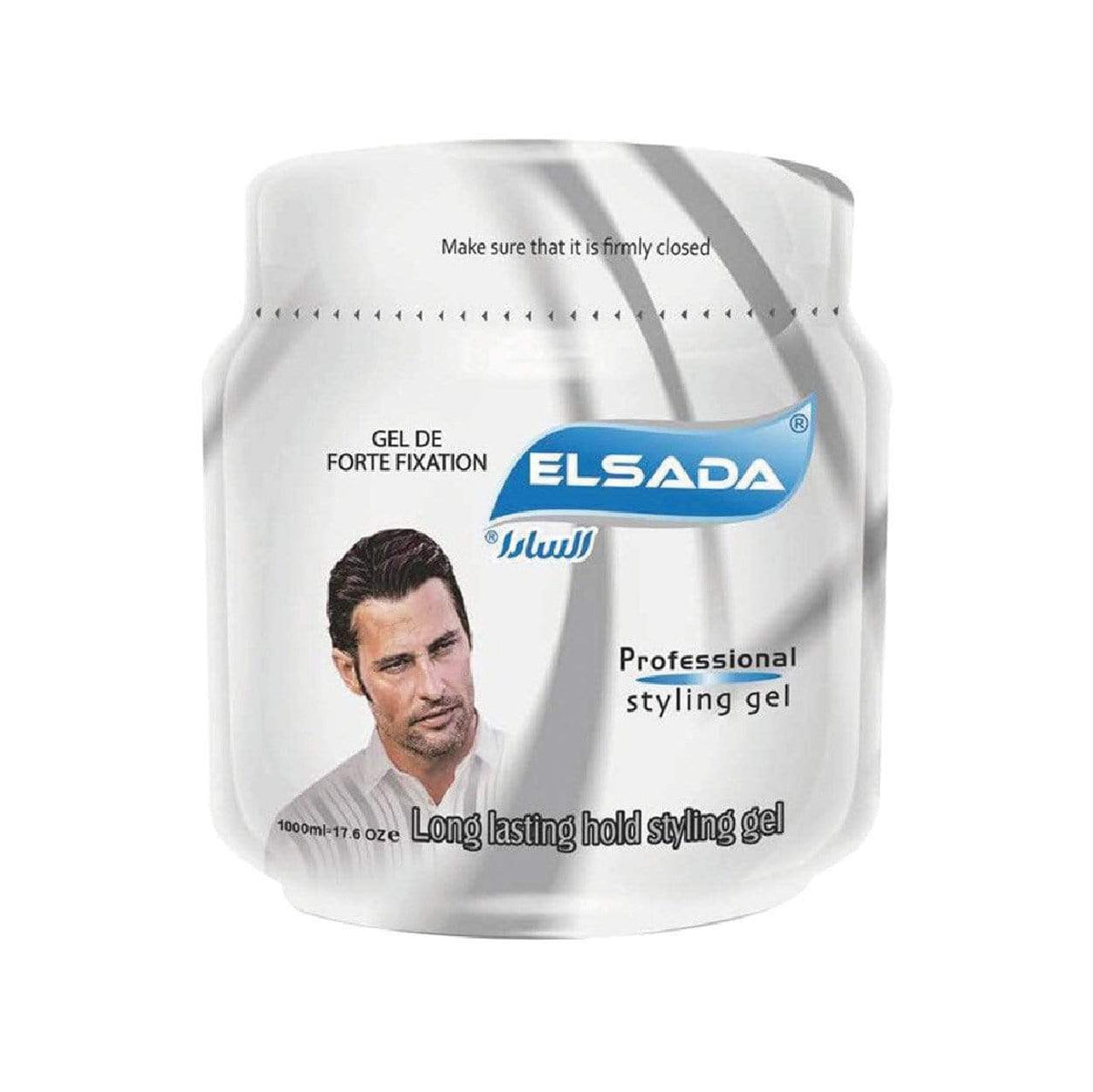 Elsada Professional Styling Hair Gel Grey Silver 1000ml