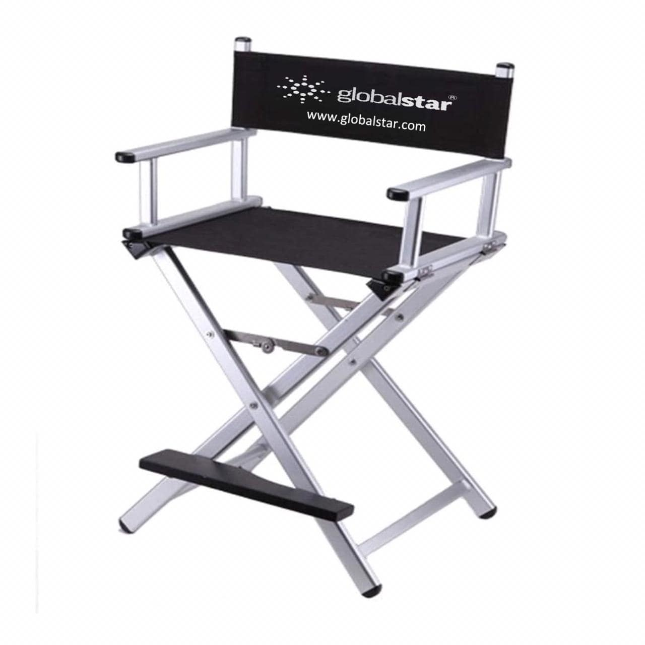 Globalstar Foldable Tall Makeup Chair Color Silver - MY739S