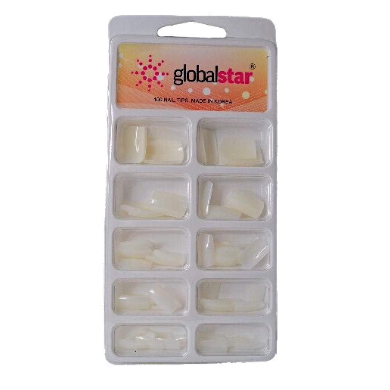 Globalstar Acrylic Natural Nail Extension Tips 1x100 TR-14