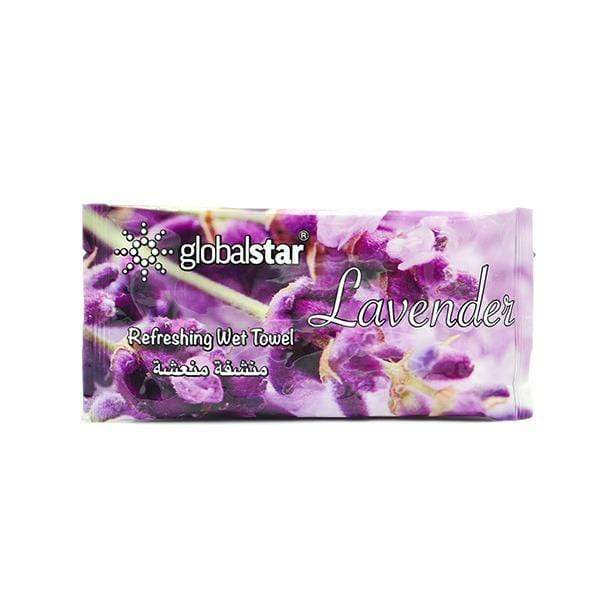 Globalstar Refreshing Wet Towel Lavender 1pc - RT02