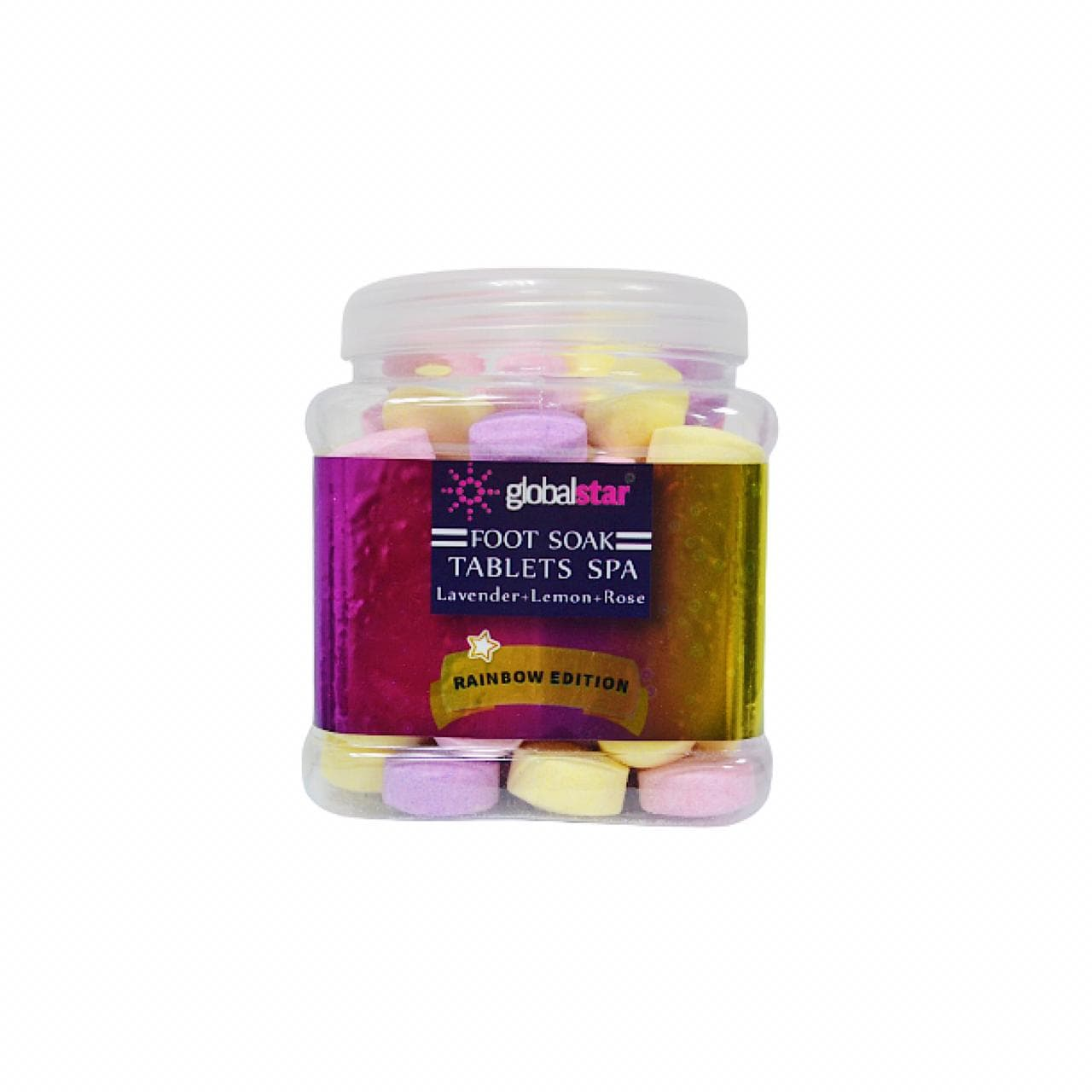 Globalstar Foot Soak Tablets Rainbow Edition 840g