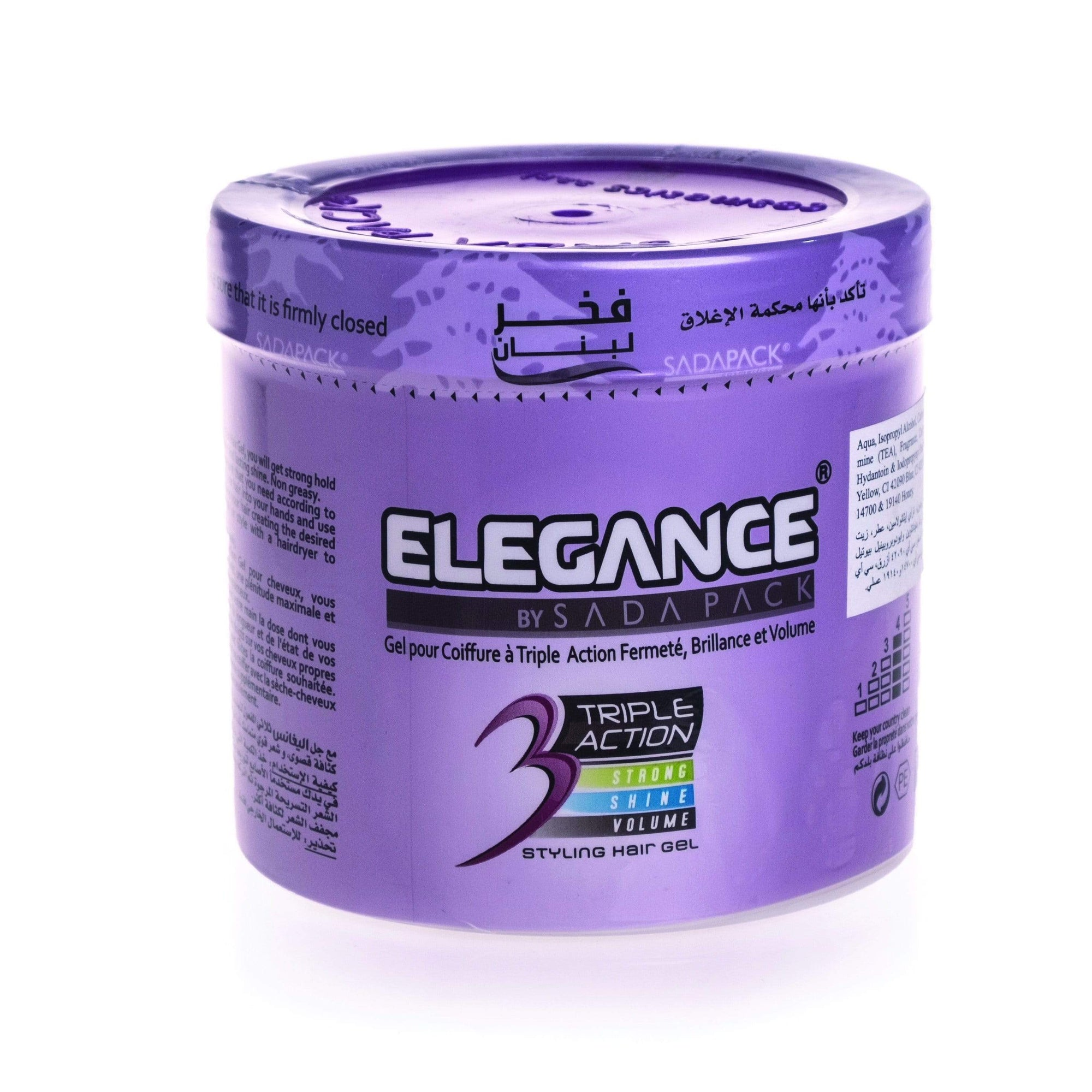 Elegance Triple Action hair Gel Purple 1000Ml