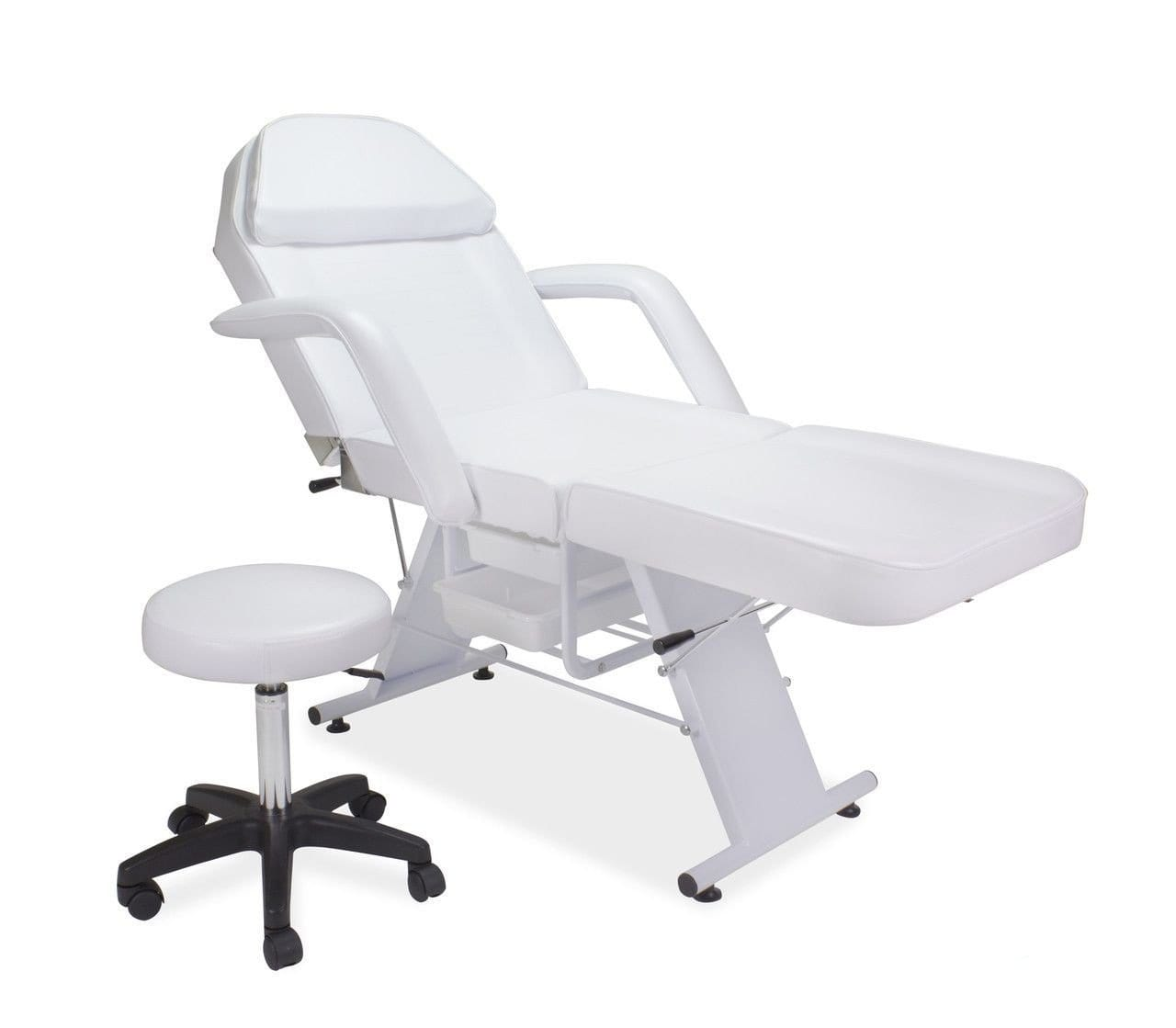 Professional High Quality Beauty Facial Bed With Styling Stool White BS-616