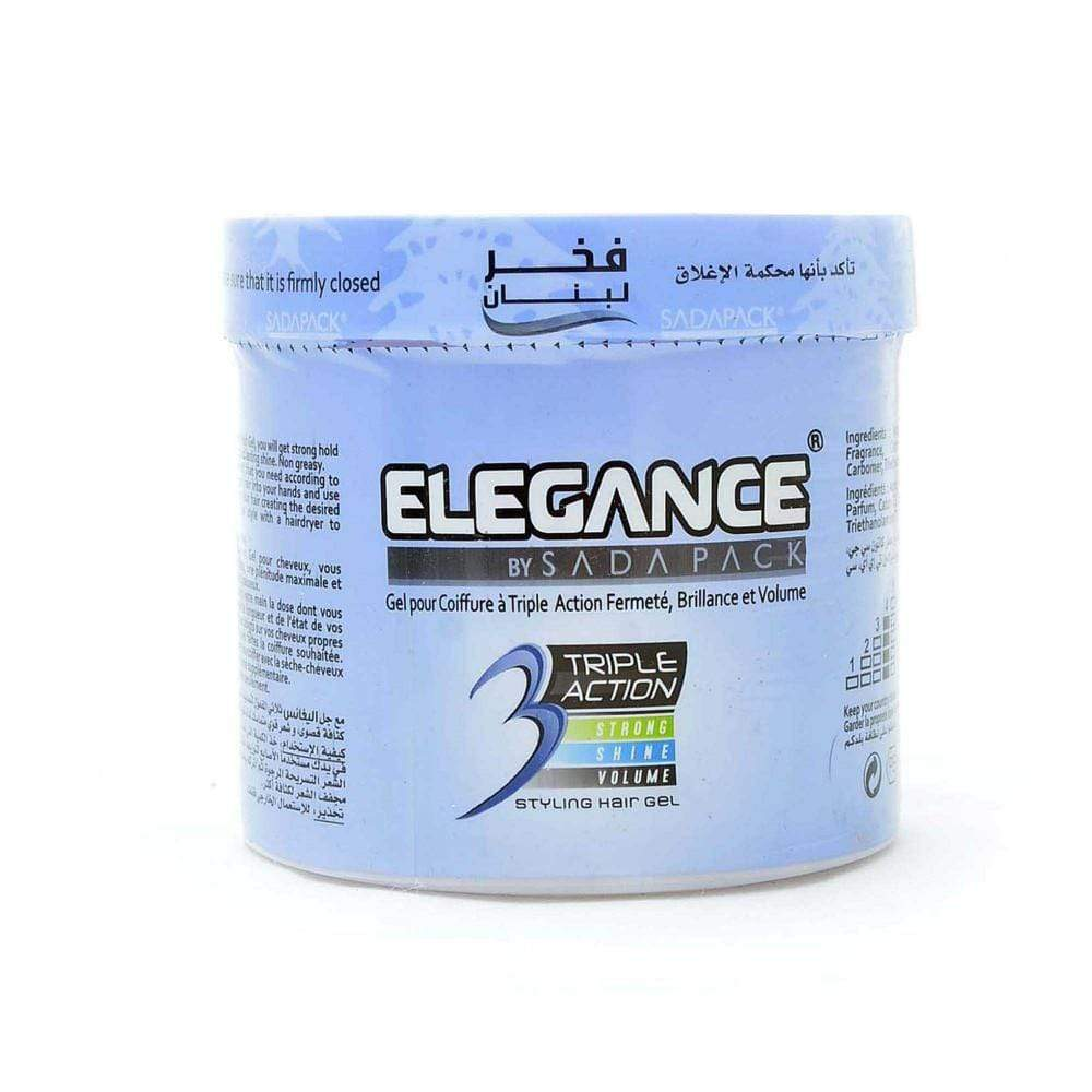Elegance Triple Action Hair Gel Blue 500ML